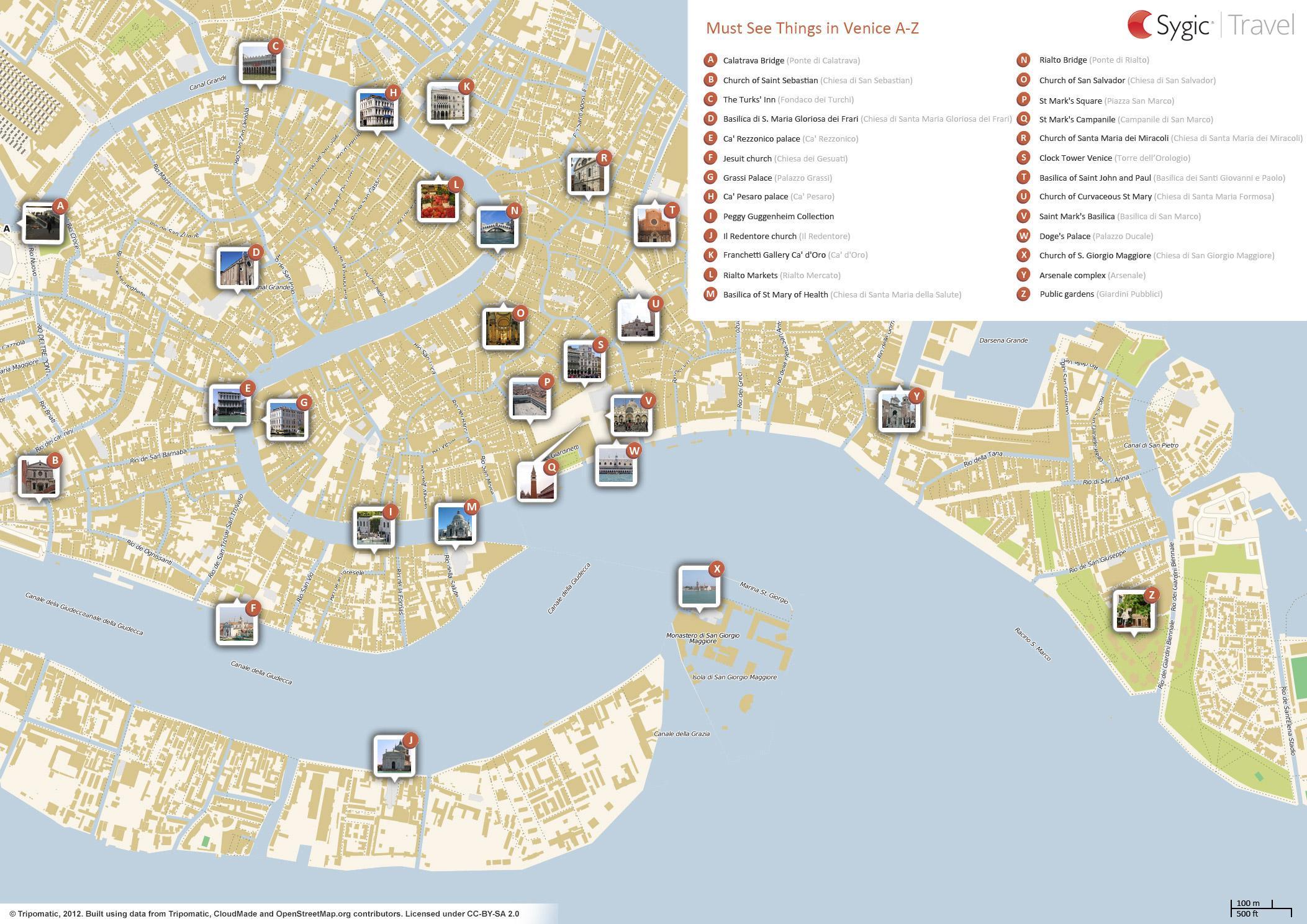 Venice sightseeing map - Venezia sightseeing map (Italy)