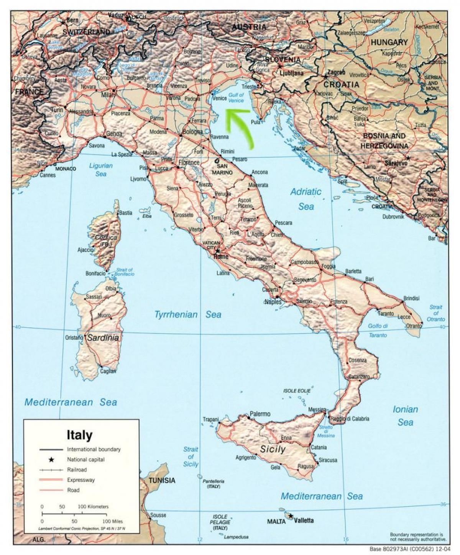 Venezia Italy Map A Map Of Venice Italy Italy